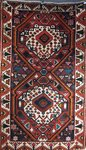 Hand-knotted carpet from Iran Bakhtiari 230 x 138 cm